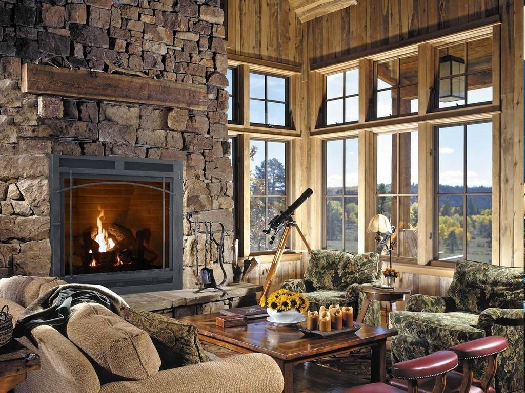 Freestanding Gas Fireplace Indoor On Custom Fireplace