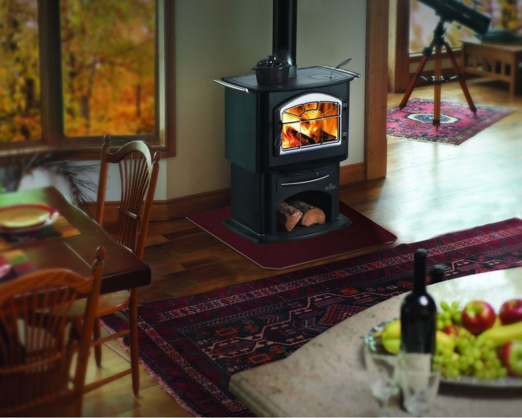 Waterford Wood Stove On Custom Fireplace Quality Electric