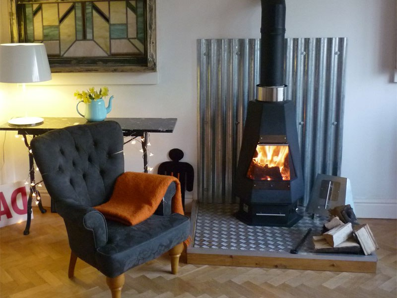 Wood Chip Stove On Custom Fireplace Quality Electric Gas