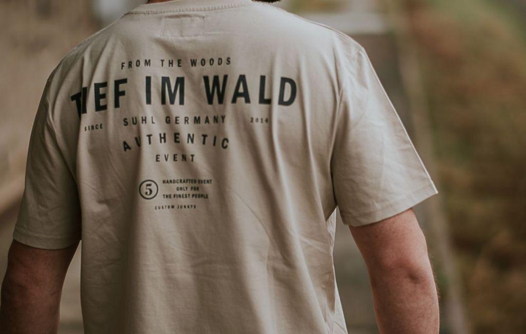 """Tief Im Wald – Salix T-Shirt """"from the woods"""" (Desert) *limitiert*"""