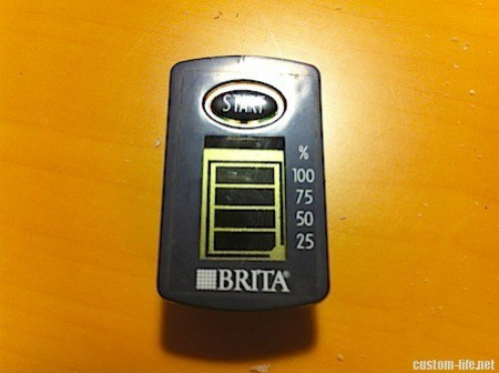 BRITAのメーター電池交換