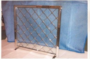 Polished-Stainless Royere Firescreen