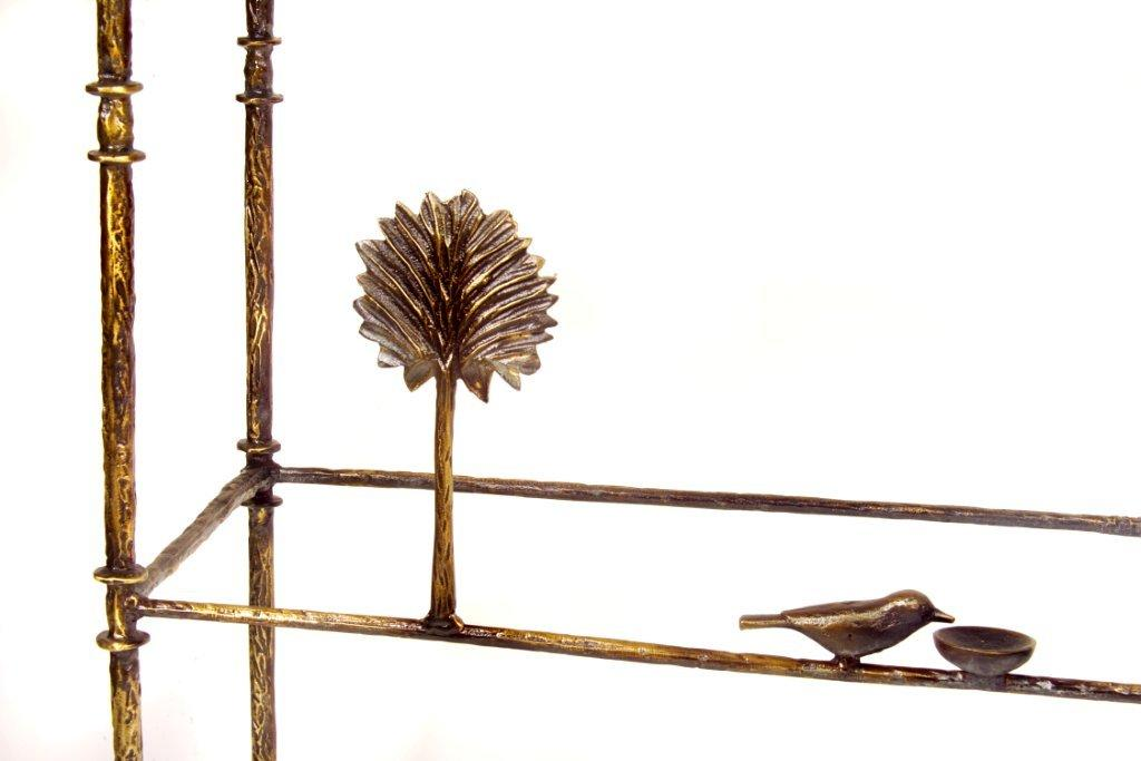 Giacometti Console Three with Bird Dish Detail