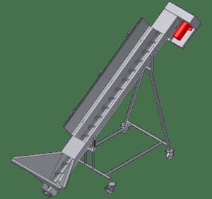 Screw conveyor auger incline sketch