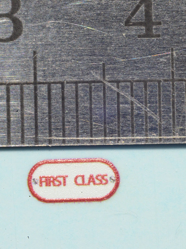 16mm scale Ffestiniog Railway Colonel Stephens First Class door plate waterslide decal by Custom Model Decals