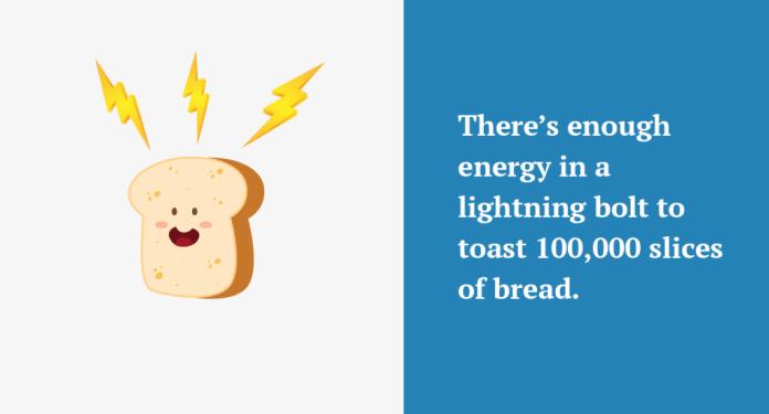 Lightning bolt energy fact