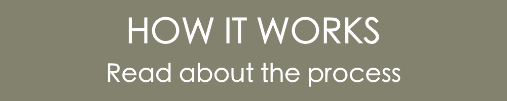 """A banner that reads """"How it works. Read about the process."""""""