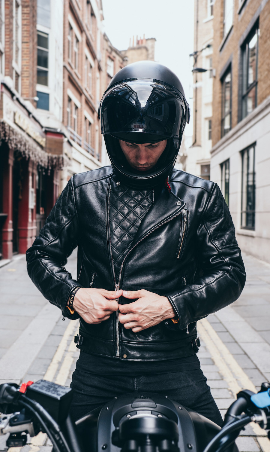 Goldtop Black Bobber Jacket
