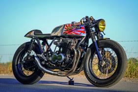 Die Veränderungen an seinem Motorrad wählt Thomas so sorgsam wie stilecht: Hochschulterfelgen gefallen dabei genauso wie die hintere Bremsbelüftung mit Messingrahmen und Edelstahlgitter oder der kurze Endtopf der 4-in-1-Anlage