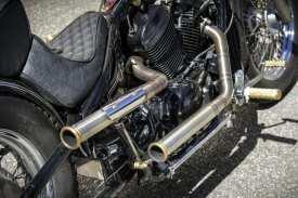 Der Auspuff stammt von McCarthy Motorcycles