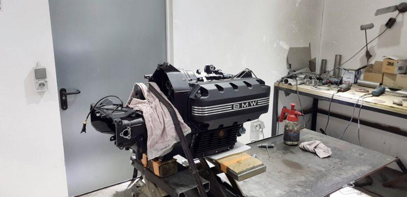 Fast wie neu: Der K-Motor wurde schwarz lackiert und frisch abgedichtet, alle Verschleißteile und Flüssigkeiten ersetzt