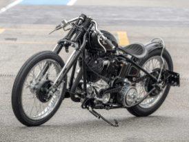 Der britische Racing-Style diente als Vorlage für diese außergewöhnliche Harley
