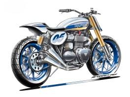 Mit dieser Zeichnung gingen die Bike Brother ins »Custom Aces«-Rennen