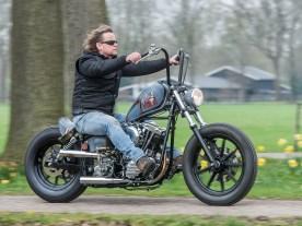 Ein schöner, roher Chopper der sich auch einwandfrei fährt, kein Nonsens-Bike
