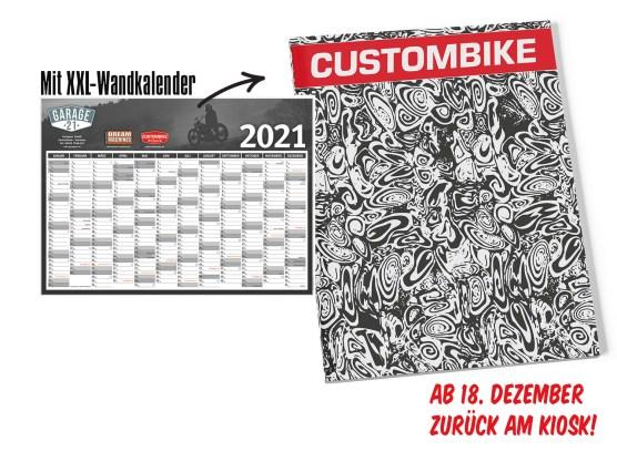 CUSTOMBIKE 01-2021 mit XXL-Wandkalender
