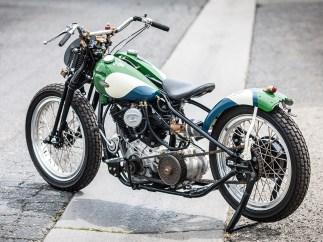 Viel Bodenfreiheit für das kleine Racing-Bike