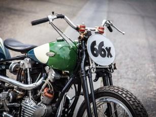 Den gekürzter Harley-Fender hätte Dave durchaus auch verschmälern können. Das hätte das schlanke Eisen noch ranker ausschauen lassen