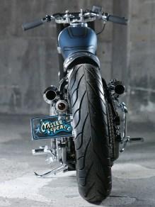 Dem Stil zum Trotz setzt Kengo auf Reifen moderner Bauart. Michelin Commander statt Firestone mit Oldschool-Profil. Der Mann will eben leistungsfähiges Gummi