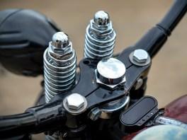 Tatsächlich ein originales Teil von Harley-Davidson: der Lenker an der DNA-Springergabel