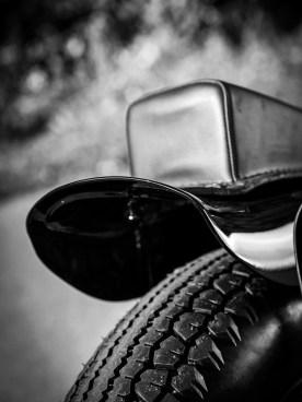 Eine der ersten Modifizierungen, die die Jungs in den 40er- und 50er-Jahren an ihren Harleys vornahmen, war es, das originale vordere Schutzblech mit dem Außenschwung am unteren Ende zu entfernen und nach hinten gedreht über dem Hinterrrad zu montieren