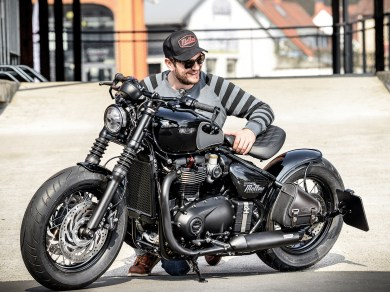 Customizer und Triumph-Händler Florian Hubert von Mellwo Motorcycles