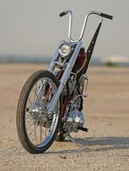Wunderschöne Panhead-Chopper im Stil alter Tage