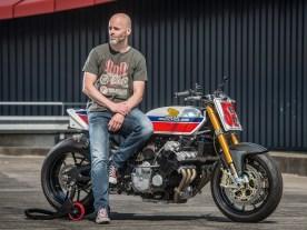 Arno Overweel, Querdenker ohne Scheuklappen. Seine Motorräder sind optisch oft extrem, aber immer perfekt fahrbar