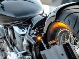 M-Blaze: Die kleinen Blinker von Motogadget fügen sich nahtlos in die saubere Optik ein