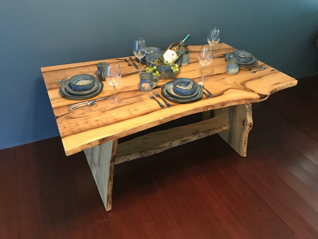 Magnolia Wood Dining Table Bench Live Natural Edge