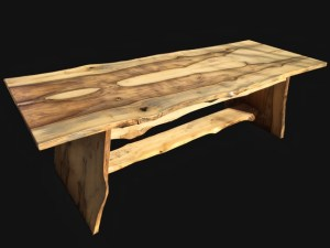 live edge Magnolia wood dining table Evan Wittels