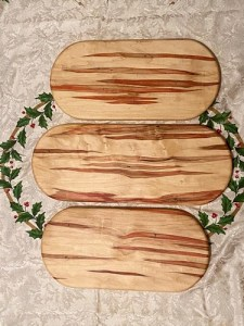 wooden cutting boards by Evan Wittels made of box elder
