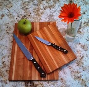 Rustic Cherry Cutting Board Set