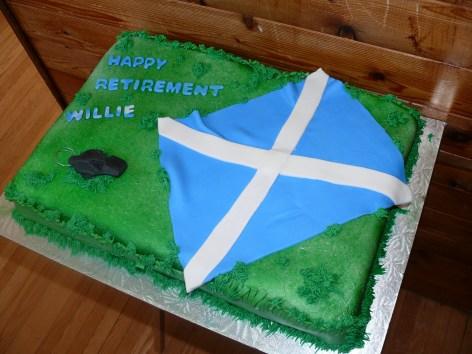Soccer Retirement Cake