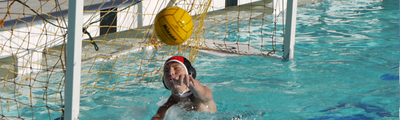 Philip playing goalie in 9th grade
