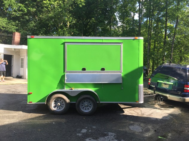 Lime Green Food Trailer