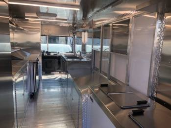 inside the mobile food truck