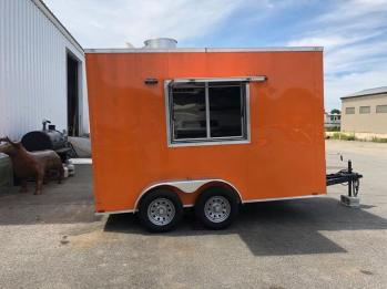 orange mobile kitchen
