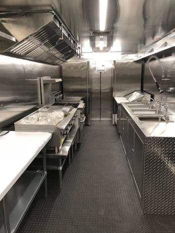 shiny new mobile kitchen