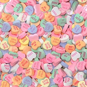 Custom Conversation Hearts Personalized Heart Candies