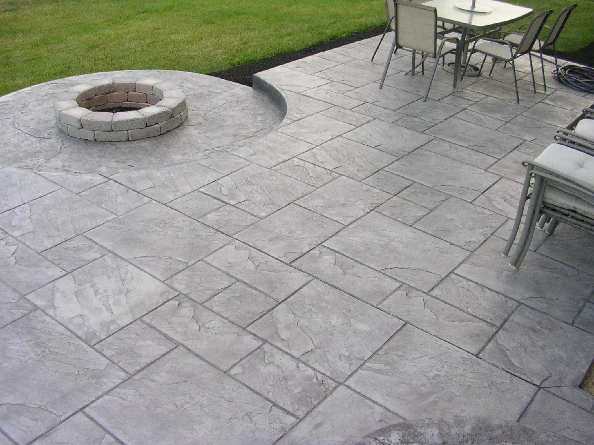 Flooring New Hampshire Epoxy Garage Stamped Concrete on Pavestone Patio Ideas id=62421