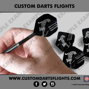 Custom Darts Flights White Tiger
