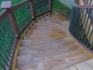 curved deck stairs