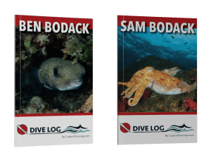 Dive Logs for the Bodack Boys