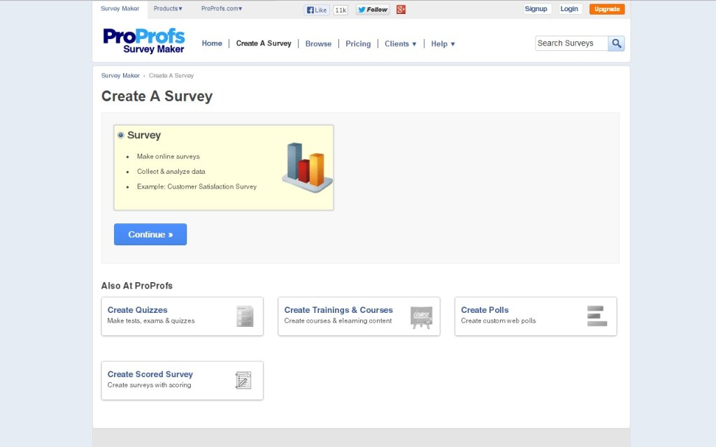 Proprofs NPS tool features easy to use dashboard where brands can send out surveys
