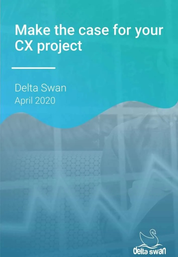 Cover page - make the case for your CX project