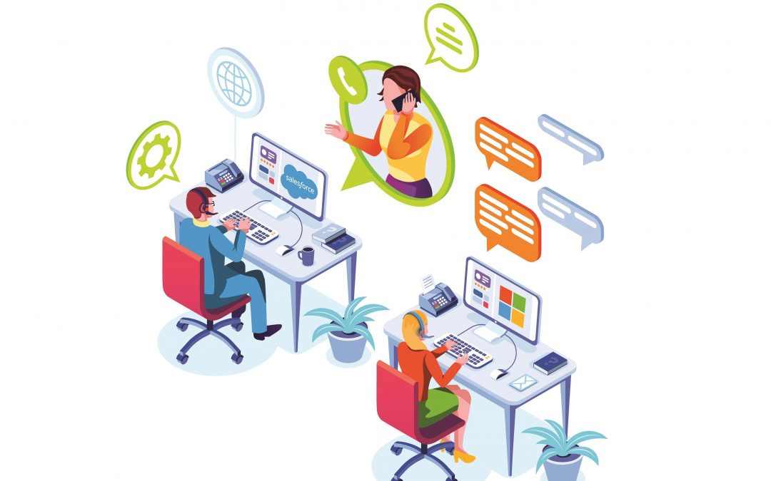 Customer Service Team Providing Support to Customer