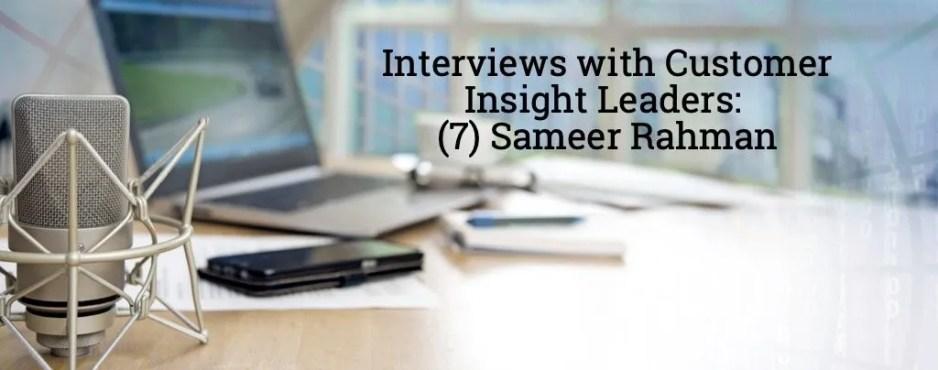 Sameer Rahman interview