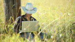 coyboy with computer