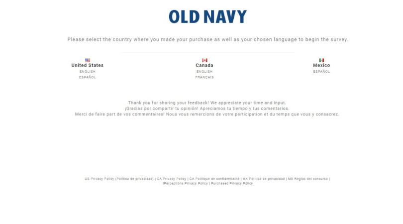 old navy survey guide