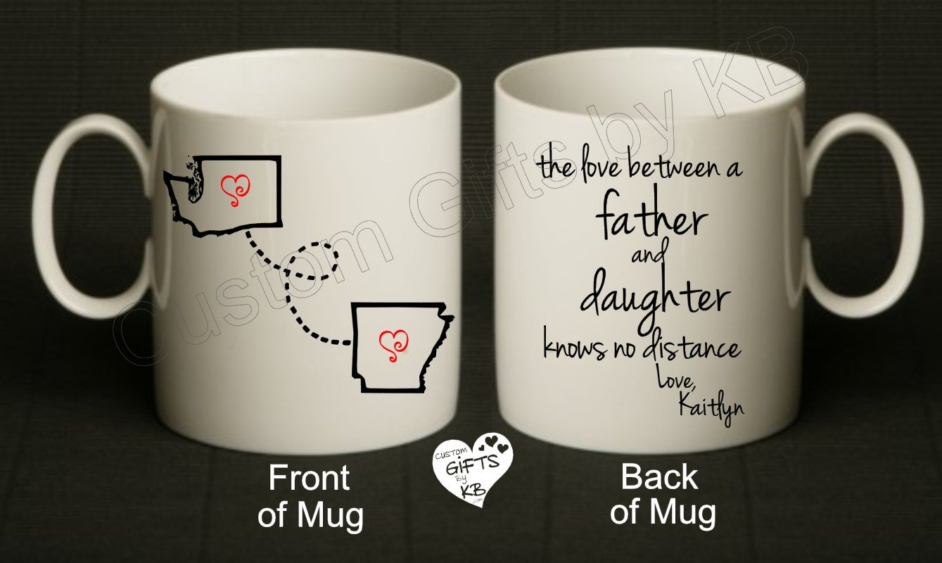 Father and Daughter Mug - Custom Gifts by KB